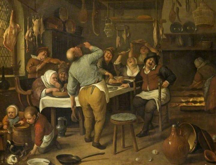 Steen, Jan, 1625/1626-1679; The Fat Kitchen